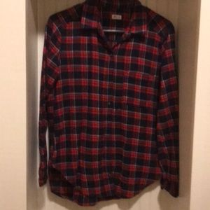 Hollister fleece plaid shirt